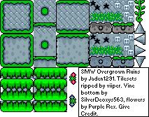 SMW owergrown ruins tileset Smw_ov10