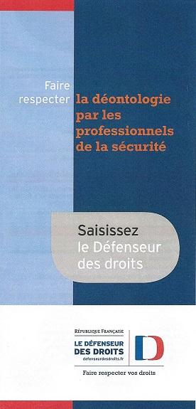 Défenseur des droits – Un dépliant d'information... déontologique ? … ou publicitaire ? Couv_d10