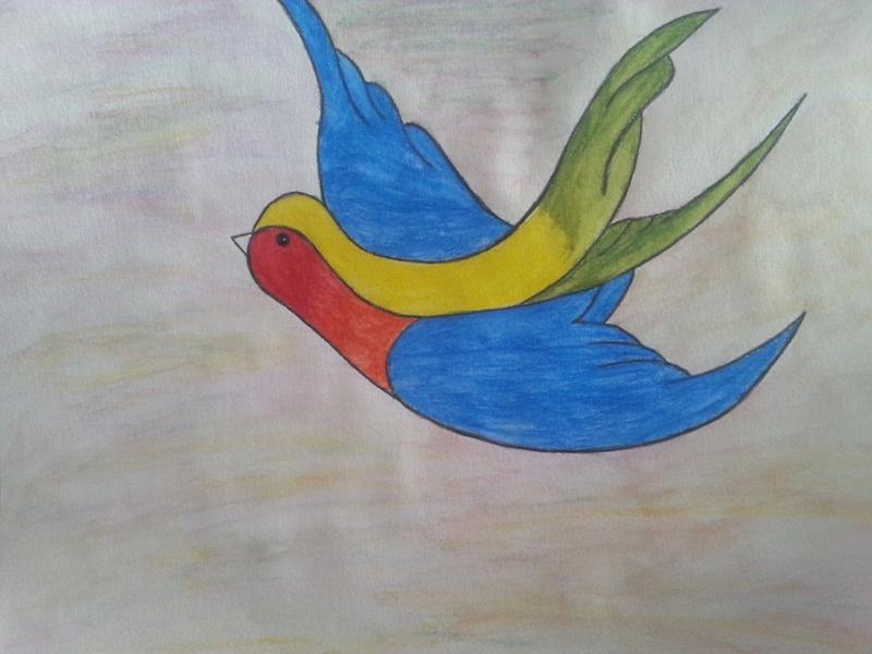 Je reviens avec .... un oiseau coloré  10417610