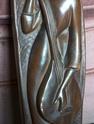 3 bronzed wall figurines 100_1418