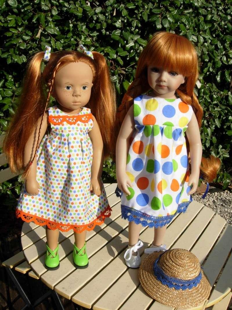 parceque c'est encore l'été ... si ... si .... Savannah et Eleonore profitent  encore un peu ... Dscn7213