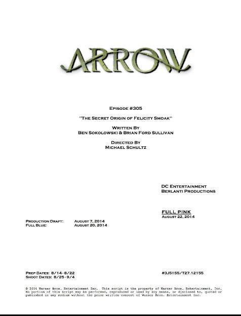 """3x05: """"The Secret Origin of Felicity Smoak"""" 3x0510"""