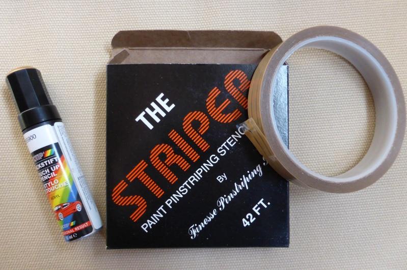 Astuce pour peindre les filets de raccords. Stripe10