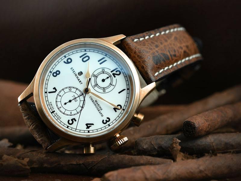 Nouvelle Steinhart Marine Chronograph bronze premium Steinh10