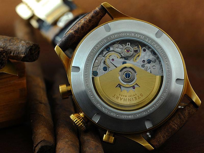 Nouvelle Steinhart Marine Chronograph bronze premium Steinh14