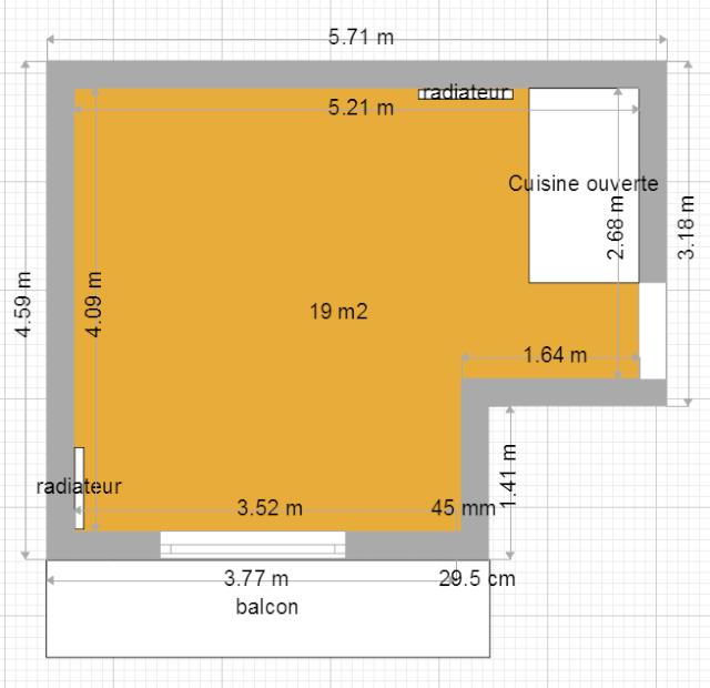Idée aménagement d'un espace séjour, salle à manger, et coin bureau Sejour10