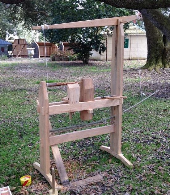 Tour à bois à perche ou...Spring Pole Lathe Spring10
