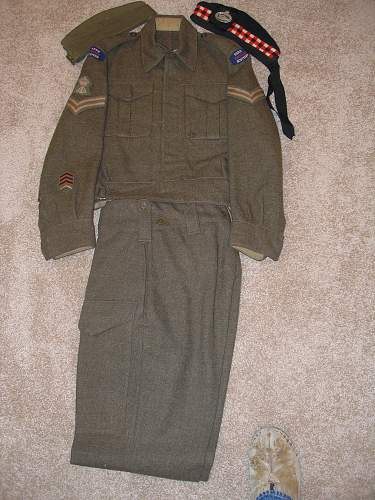 "Grandfather's WWII Canadian Uniform ""The Essex Regiment (Tank)"" P6070213"
