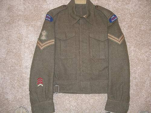 "Grandfather's WWII Canadian Uniform ""The Essex Regiment (Tank)"" P6070214"