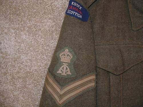 "Grandfather's WWII Canadian Uniform ""The Essex Regiment (Tank)"" P6070215"