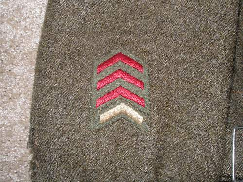 "Grandfather's WWII Canadian Uniform ""The Essex Regiment (Tank)"" P6070216"