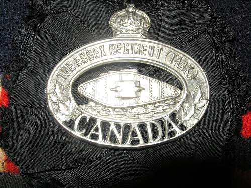 "Grandfather's WWII Canadian Uniform ""The Essex Regiment (Tank)"" P6070318"