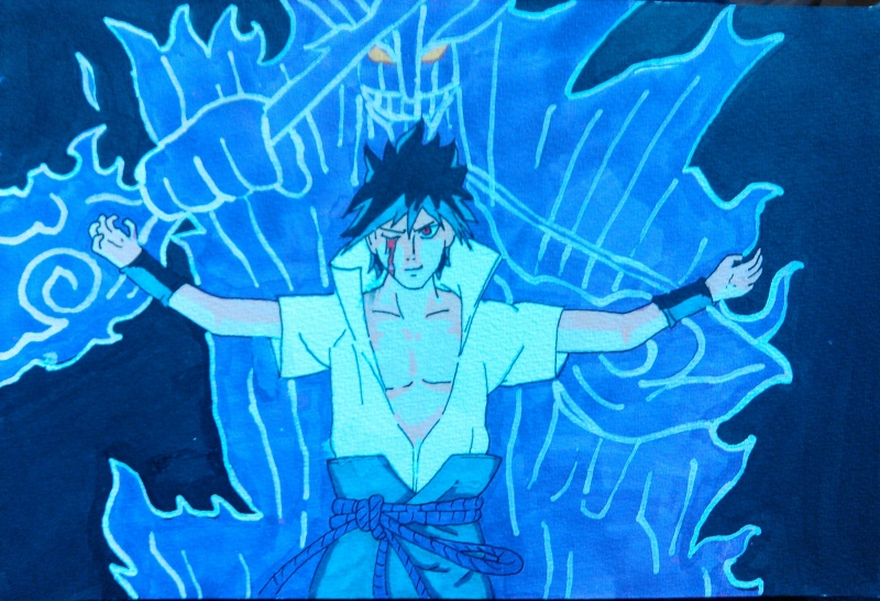 Petite galerie dessins Naruto divers  Saske10