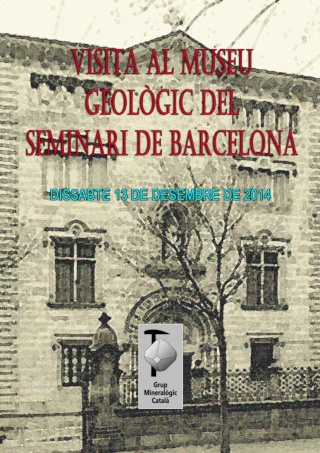 RESSENYA sortida dissabte 13-12-14 Museu Geològic del Seminari de Barcelona (MGSB) Semina10