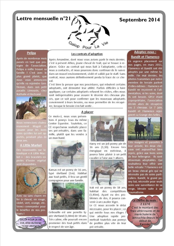 GPLV - Lettre Mensuelle n°21 - Septembre 2014 Nl_sep15