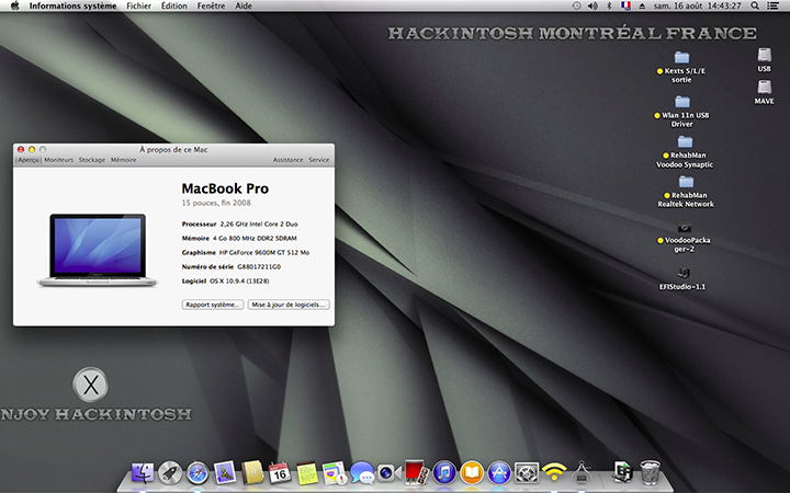 Installer OS X Mavericks V13 Chris310