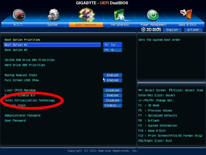 Impossible d'installer VMware... Gigaby10