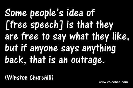 Some people's idea of [free speech] 1-wins10