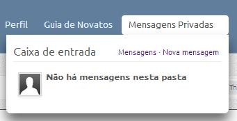 Colocação de aba de Mensagens Privadas  111