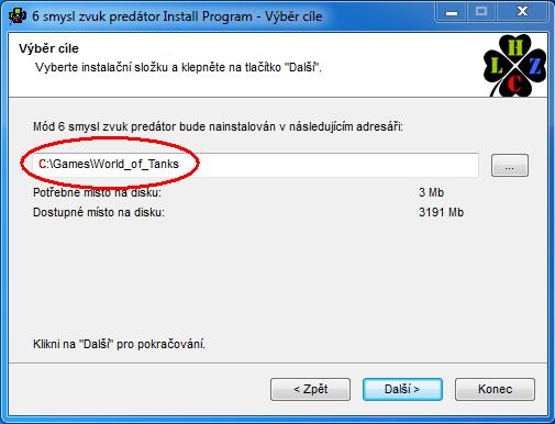 Jak nainstalovat módy na jiný disk než C:\ Vastai11