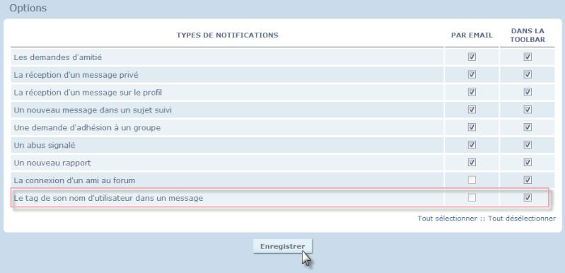 Nouvelles fonctionnalités: Le tag des utilisateurs @ et des mots-clés # 25-07-15