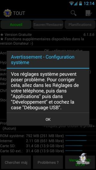 [TUTO] Sauvegarder/Restaurer ses applications et données personnelles sur son Wiko Wax Screen18