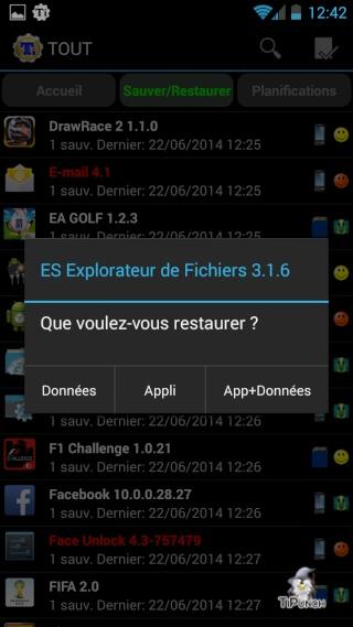[TUTO] Sauvegarder/Restaurer ses applications et données personnelles sur son Wiko Wax Screen27