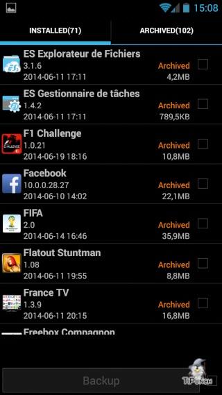 [TUTO] Sauvegarder/Restaurer ses applications et données personnelles sur son Wiko Wax Screen34