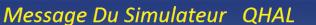 Message du Simulateur