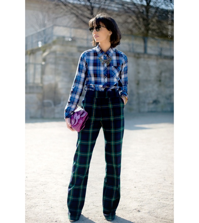Street Style inspirations….Check on the horizon Plaid_12