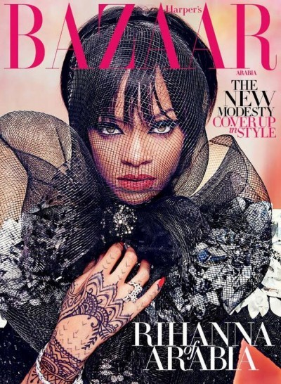 Rihanna covered herself with style for her Arab fans Rihann13