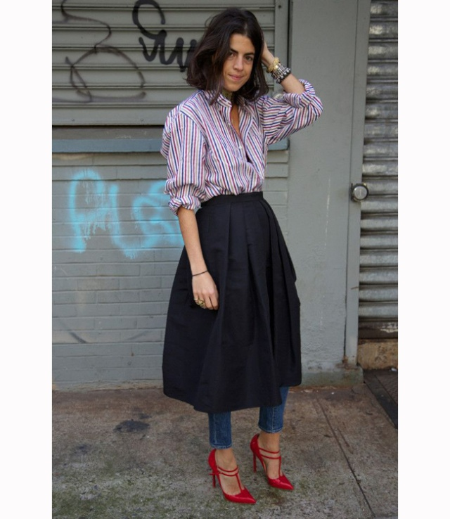 The weirdness we love: Skirt over trousers Skirt_12