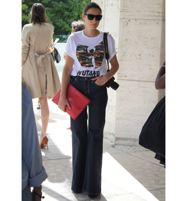 Street Style inspirations ...T-shirt with a capital T in front Tshirt10