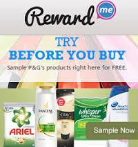 Free MultiSamples of P&G products from RewardMe – Register for FREE 2510