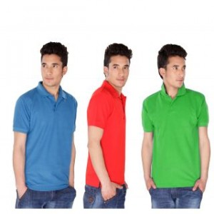 Demokrazy Pack Of 3 Stylish and Trendy Polo Tees For Men @ Rs.399 741-3010