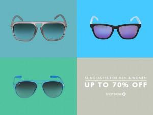 Get Upto 70% OFF On Branded Sunglasses For Men & Women 824-3010