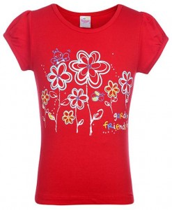 Trendy Short Sleeves Flower Red Colored Printed Top From Tango @ Rs 129 M4666-10