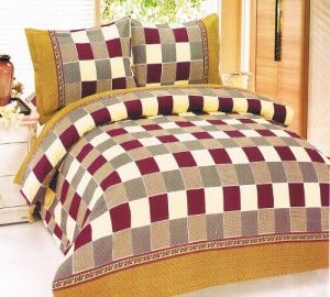 Colorful Design Double Poly Cotton Bedsheet with 2 Pillow cover @ Rs 299 M4745-10