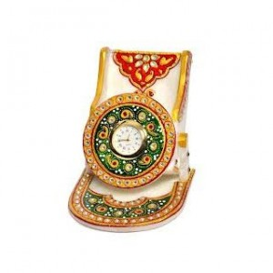 Classy Handicraft Clock and Mobile Stand in Marble Material @ Rs 899 Marble10