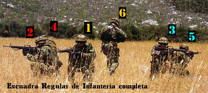 Escuadra regular de infantería (ERI) Eri110