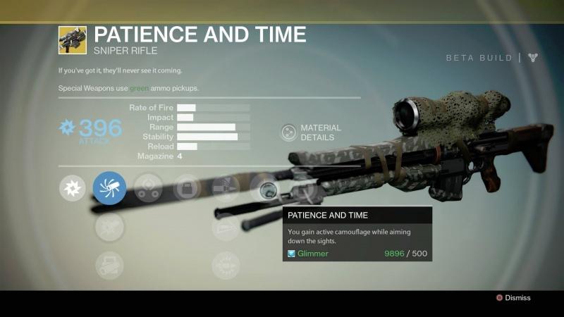 Armes spéciales de Destiny (Légendaire/Sniper/Conduit/Closing Time/Pistolet/Gun) 6110