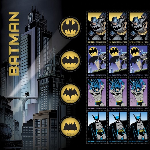 Batman getting new postage stamps here in the U.S. Batman12