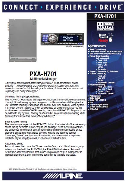 Alpine PXA-H701+C701 (Used) 701_br10