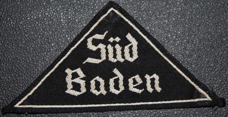 Insigne de Région HJ  - SUD BADEN (avec étiquette RZM) 113