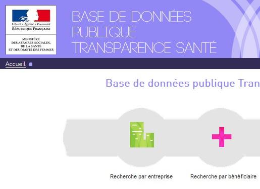 La base de données publique Transparence Santé - Neptune