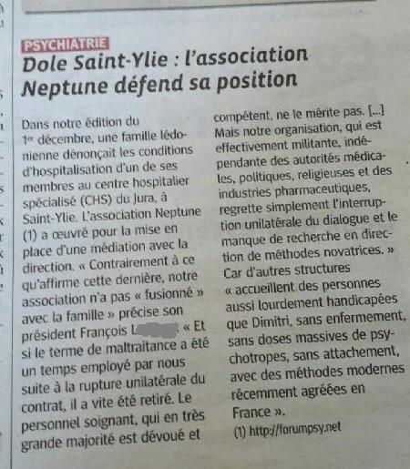 Parution du droit de réponse - Neptune