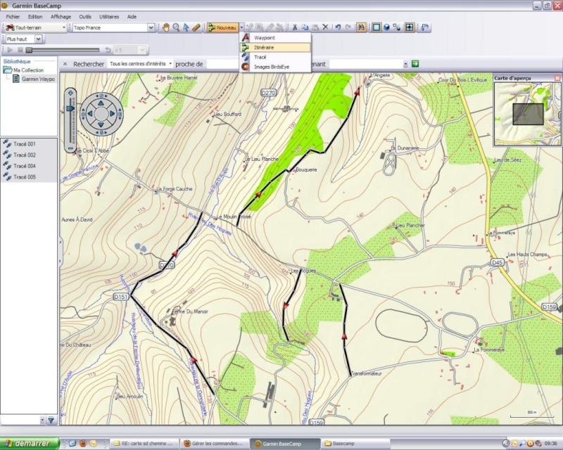 Ulitilisation basecamp pour GPS Base210