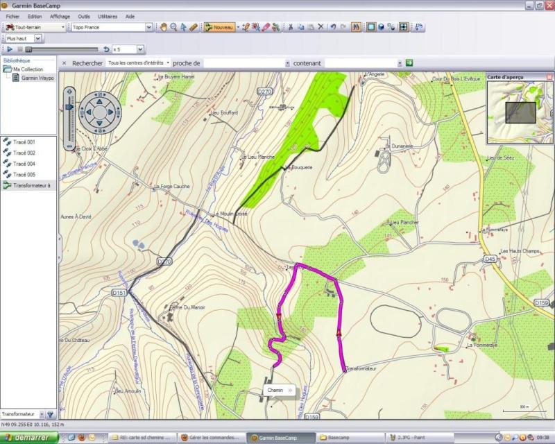 Ulitilisation basecamp pour GPS Base310