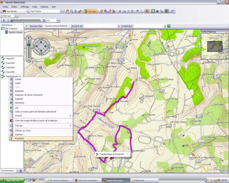 Ulitilisation basecamp pour GPS Base510
