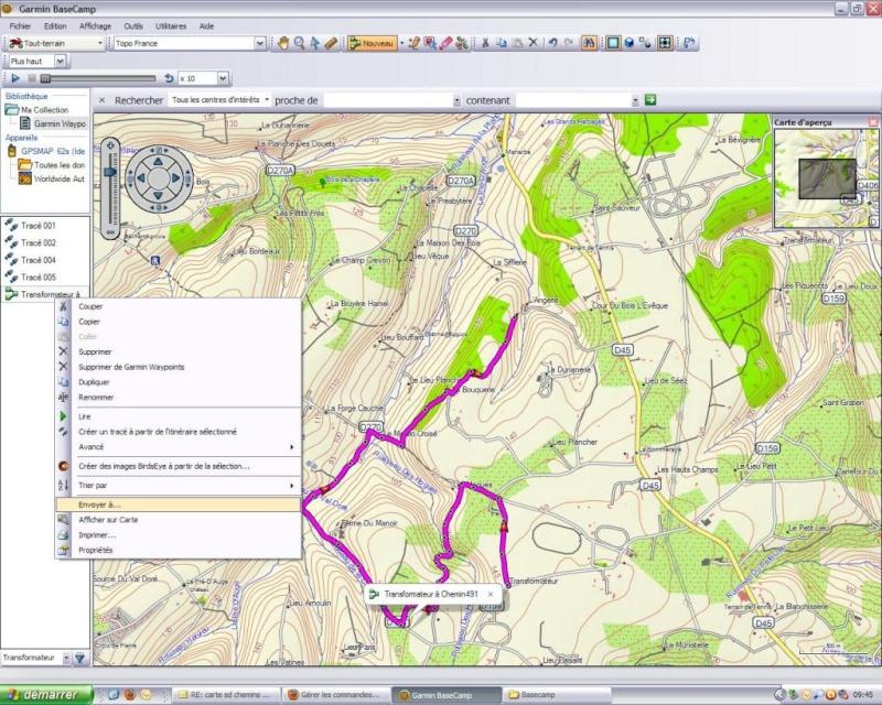 Ulitilisation basecamp pour GPS Base610